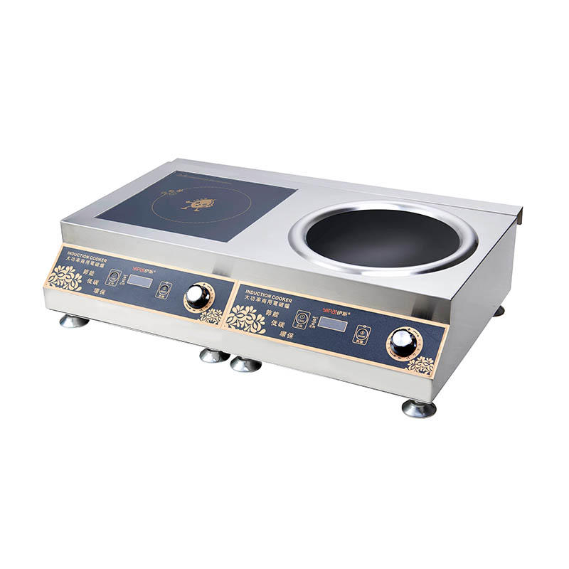 High Power Double Burners Induction Equipment 220V YP-D09 5000W+5000W